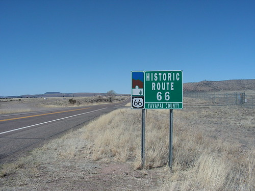 Route 66 in Yavapai County, AZ