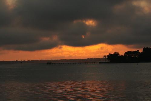 sun clouds sunrise florida jacksonville stinsonpark bakerpointpark