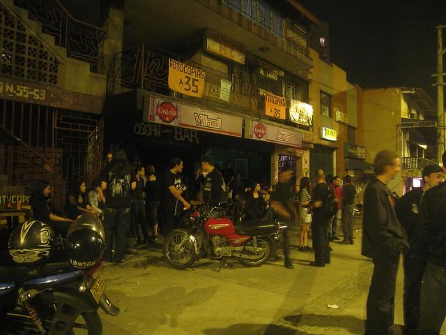 The scene outside Ossian Bar
