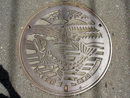 Nagano pref manhole cover(長野県千曲川流域マンホール)