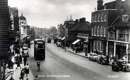 Eltham High Street,Eltham, London. From  a postcard dated 1950.