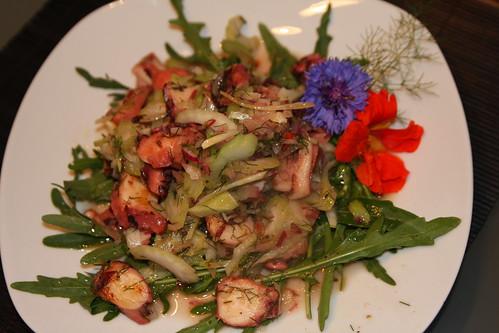 Lauwarmer Gemüsesalat mit Polpo