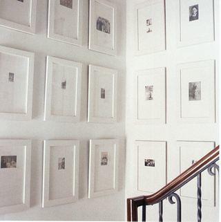 wall of white frames - White Wall Frames