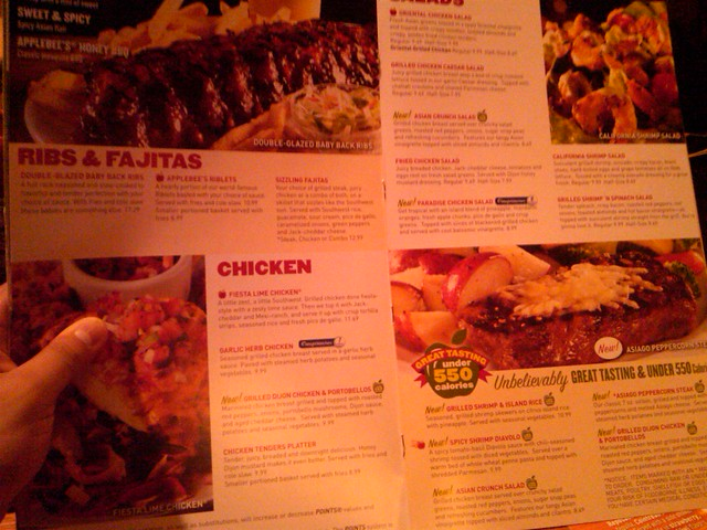 Applebees Food Menu For Kids