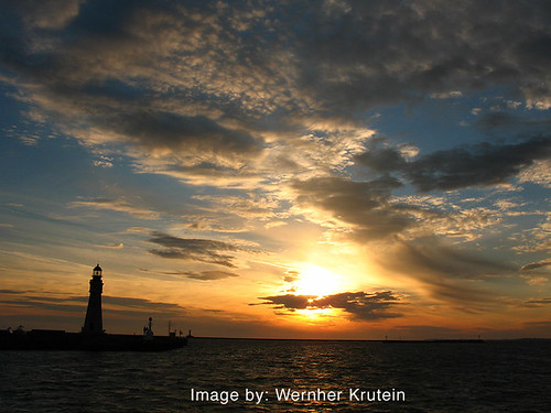 Buffalo Main Lighthouse, Lake Erie, New York State