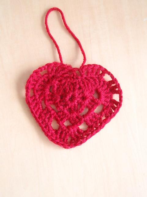 Grandma crochet heart