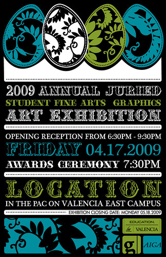 2009 art exhibition poster entry