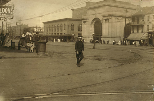 Louis Dupree on Canal Street, New Orleans, 1913