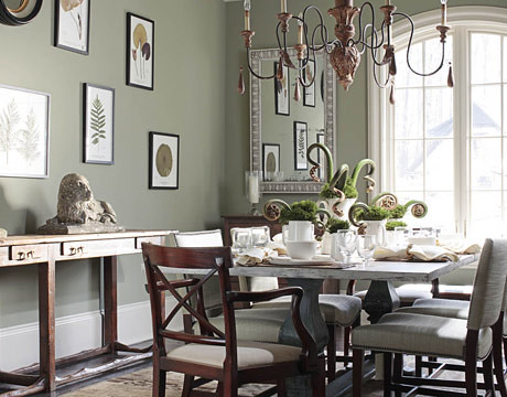 Benjamin Moore Green Dining Rooms