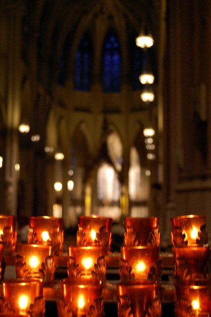 St. Patrick's Cathedral's Candles.