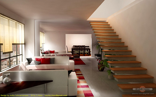 Terassa a sala grande for Moderne innenarchitektur wohnzimmer