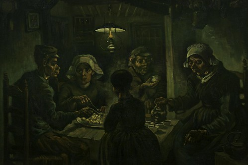 """The potato eaters, Vincent van Gogh (1885)"" / ""De aardappeleters, 1885 Vincent van Gogh (1853-1890)"""