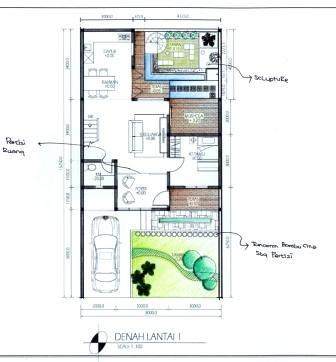 Gambar Rumah Rumah Modern on Denah Rumah  Renovasi Rumah Tipe 70 Atau 80  2 Lantai  Denah Lantai 1