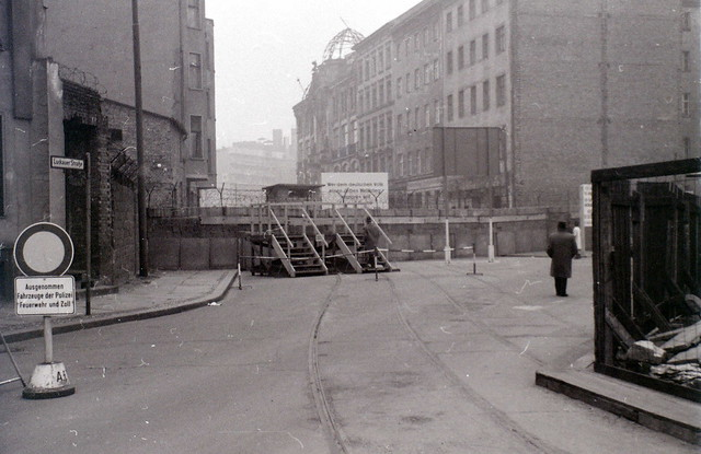 Berlin Wall At Luckauer Strasse December 1964