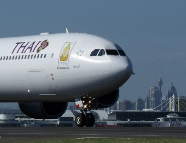 Thai A340 in Sydney