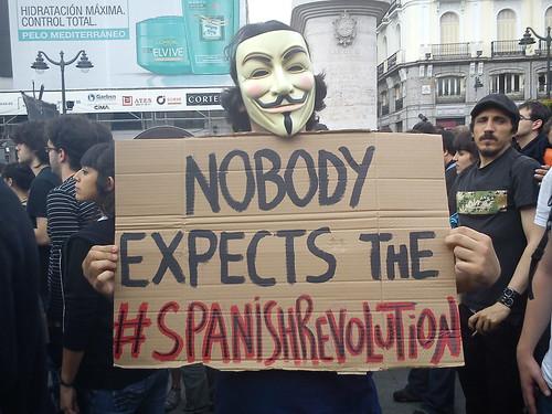 Un manifestante del 15M