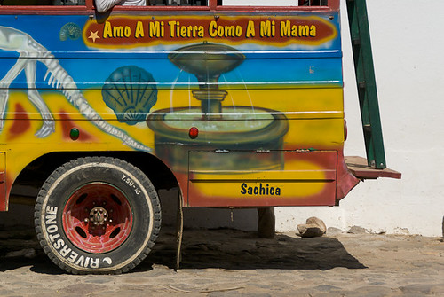 wood bus art fountain wheel stairs circle skeleton colombia paint transport colonial round letter villadeleyva boyaca