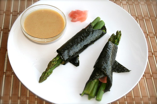 asparagus and miso dip