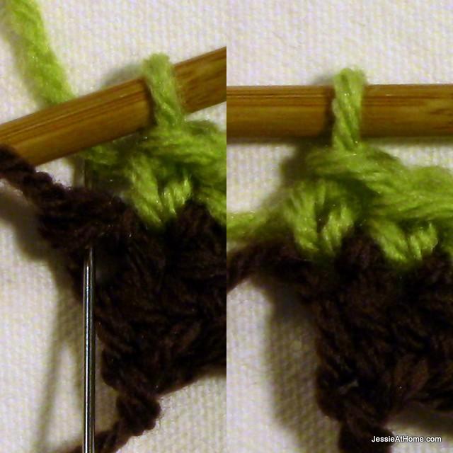 Joseph's-Puff-Stitch-Crochet-Blanket-last-sc-row-2