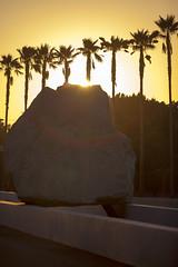 Levitated Mass Sunset