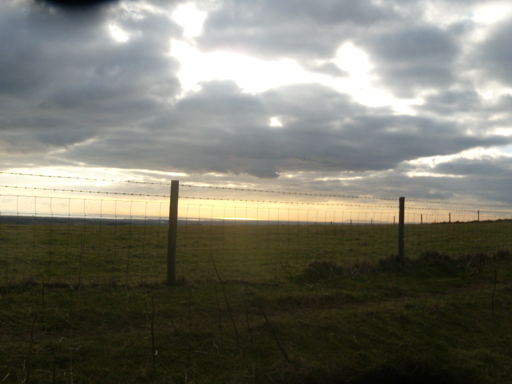 Sun and sea through a fence Amberley Circular