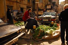 Corner vegetable market, Beirut