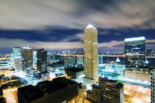 plaza nyc newyorkcity longexposure night skyscraper geotagged jerseycity esb empirestate trump powerhouse mudpig stevekelley
