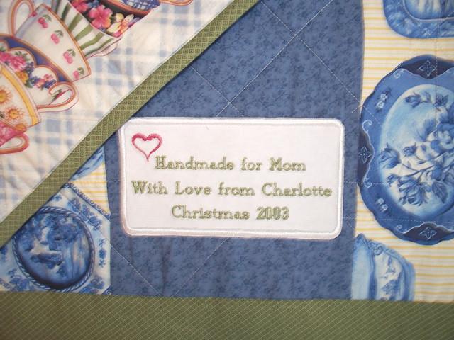 Applique Personalized Quilt Label Document Your Quilts Wit Flickr