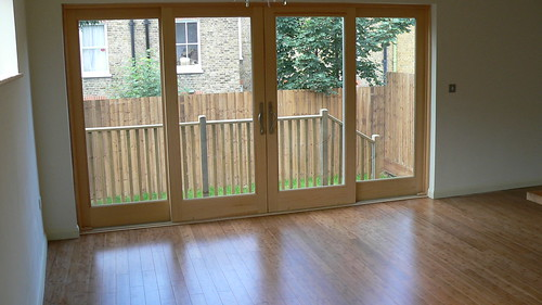 Double glazed windows as part of patio doors – this glass is a lot safer than singular glass panes