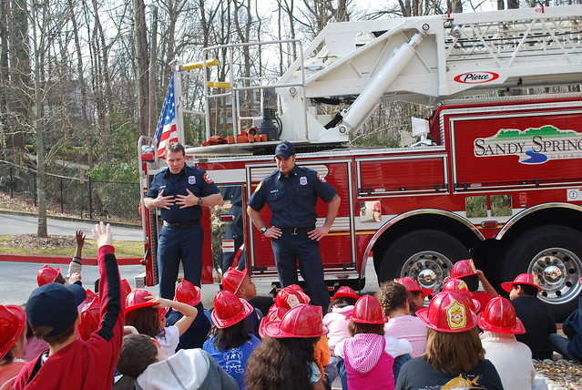 City Of Sandy Springs Police And Fire Departments Visit