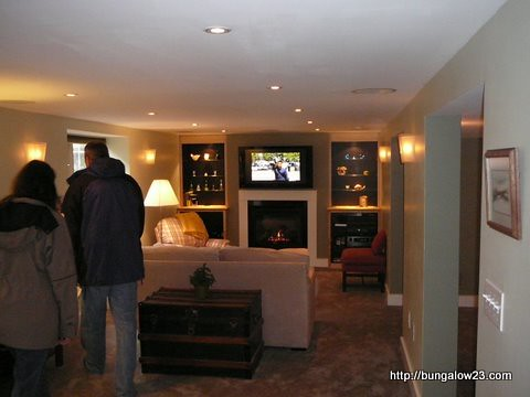 Home tour highlights for Bungalow basement renovation ideas