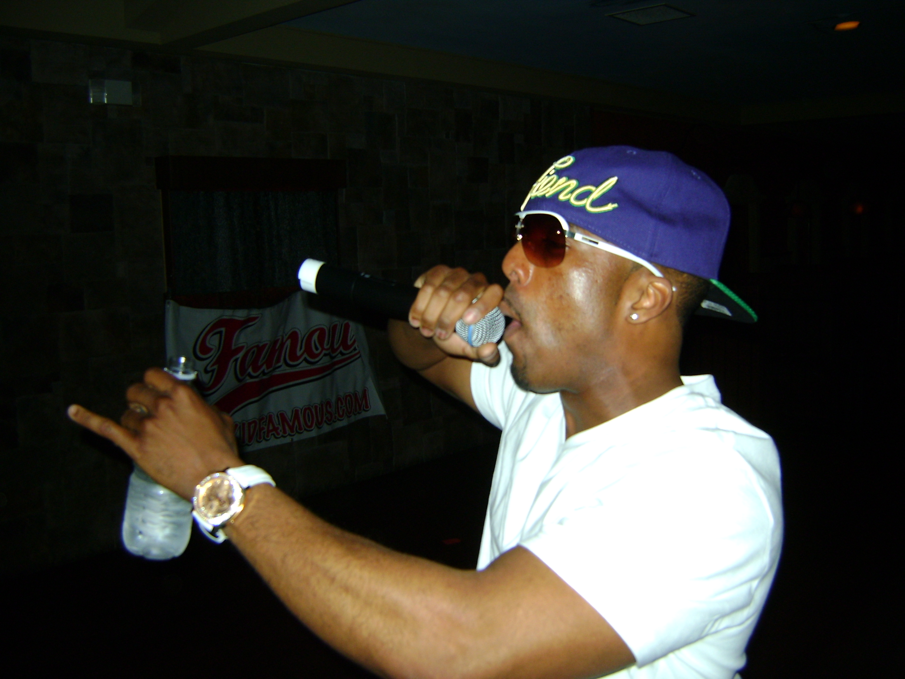 The Kid Famous Performing