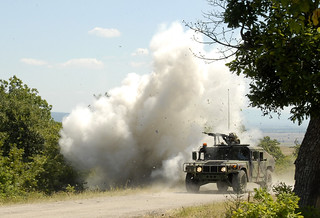 Convoy Reacts to Simulated IED