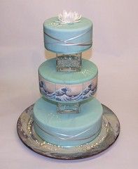Great Wave Wedding Cake