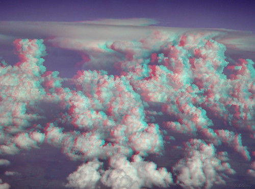 3D Clouds from airplane window