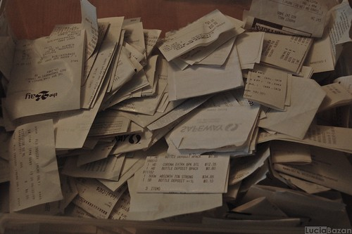 Receipts: before | by Bandit Queen