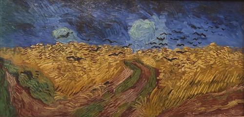korenveld met kraaien Vincent van Gogh 1890