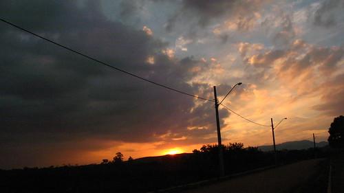 sunset red brazil orange sun beautiful clouds nuvem sãopaulo mbspl caçapava