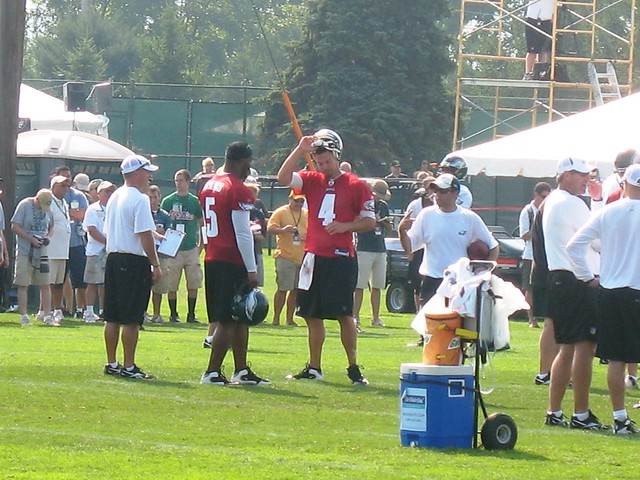 Eagles QBs Donovan Mcnabb and Kevin Kolb from Flickr via Wylio