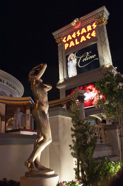 Caesars Palace. At the original pedestrian entrance, the nude Apollo is ...