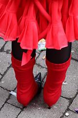 footwear, clothing, shoe, high-heeled footwear, red, outerwear, limb, leg, fashion, sock, tights,