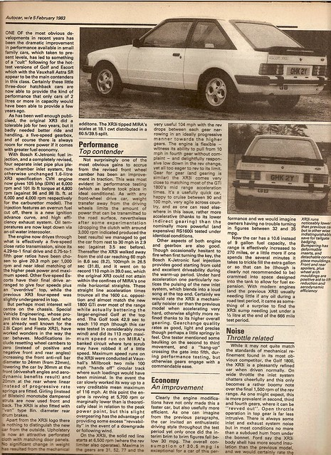 Ford Escort XR3i Mk3 Test 1983 2