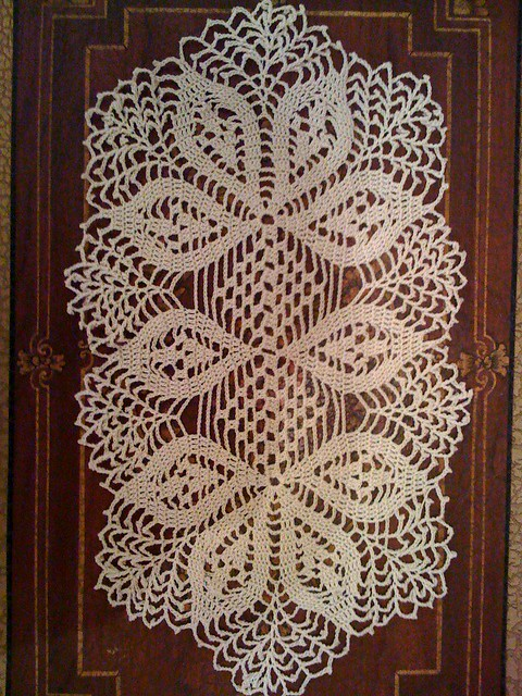 handmade crochet doily, oval Flickr - Photo Sharing!