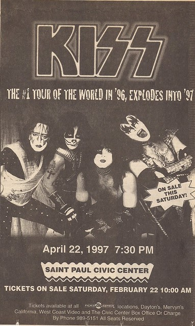 04/22/97 Kiss @ St. Paul, MN (Ad)