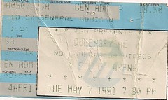 05/07/91 Queensryche @ Duluth, MN (Ticket)