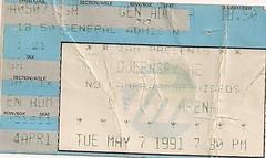 05/07/91 Queensryche @ Duluth, MN (Ticket)