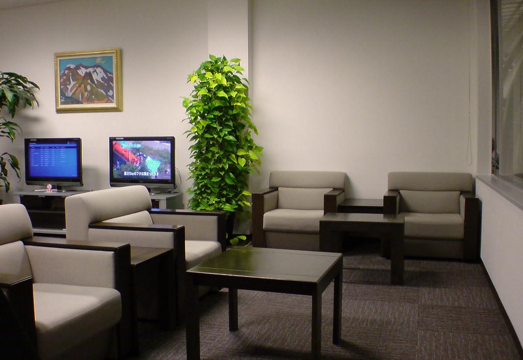 SENDAI airport lounge.