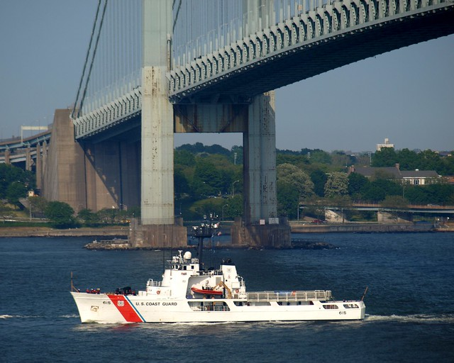 Cutter reliance wmec 615 at verrazano narrows bridge new york city