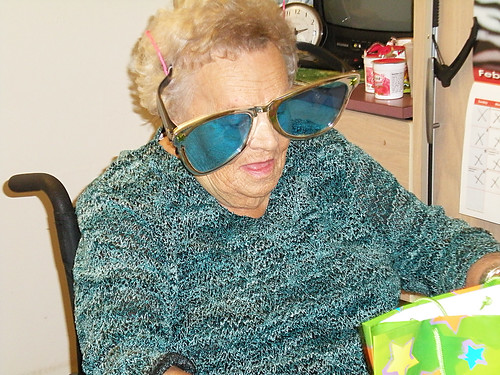Grandma Gert parties hard at  90.