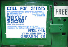 call for artists-sticker show by Ojos sin Vida